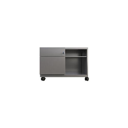 Bisley Rollcontainer Caddy Schublade rechts Silber 800 x 490 x 563 mm