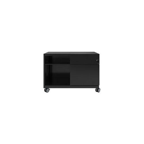Bisley Rollcontainer Caddy Schublade rechts Schwarz 800 x 490 x 563 mm