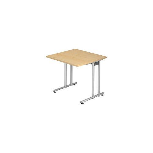 Hammerbacher Schreibtisch Ahorn 800 x 800 x 720 mm