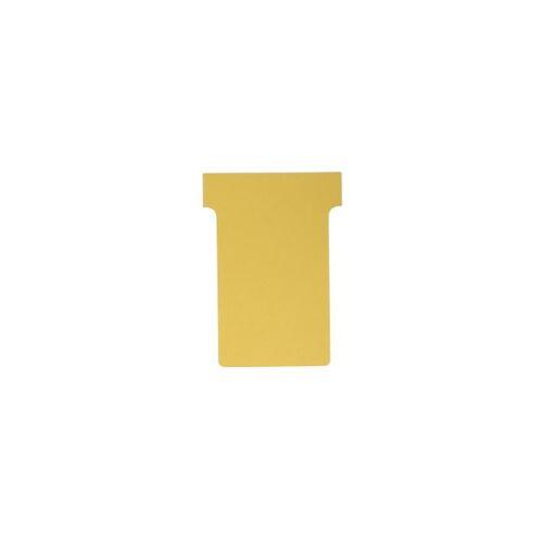 Nobo T-Steckkarten 2002004 Gelb 6 x 8,5 cm