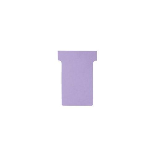 Nobo T-Steckkarten 2 Lila 6 x 8,5 cm 100 Stück