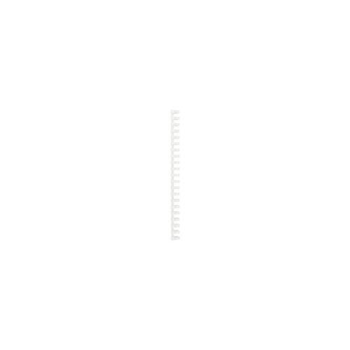 GBC PVC Plastikbinderücken Weiß 19 mm 165 Blatt DIN A4 100 Stück