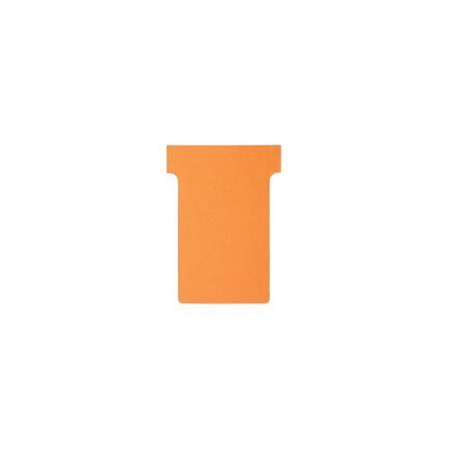 Nobo T-Steckkarten 2 Orange 6 x 8,5 cm 100 Stück