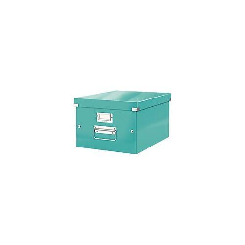 Leitz Click & Store WOW Aufbewahrungsbox DIN A4 Laminierte Hartpappe Eisblau 28,1 x 37 x 20 cm