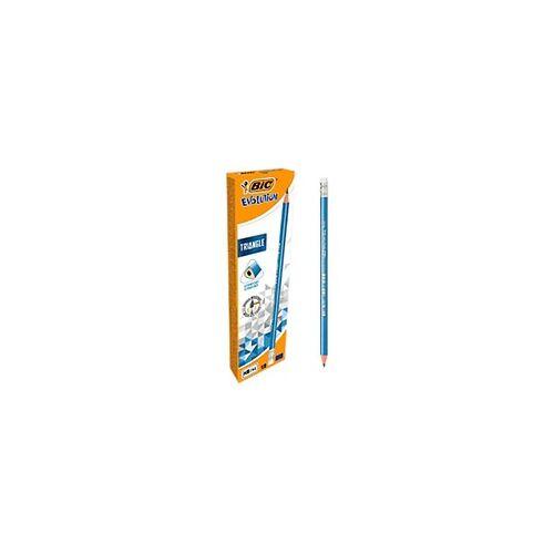 BIC Bleistift + Radiergummi Evolution Triangle HB 12 Stück