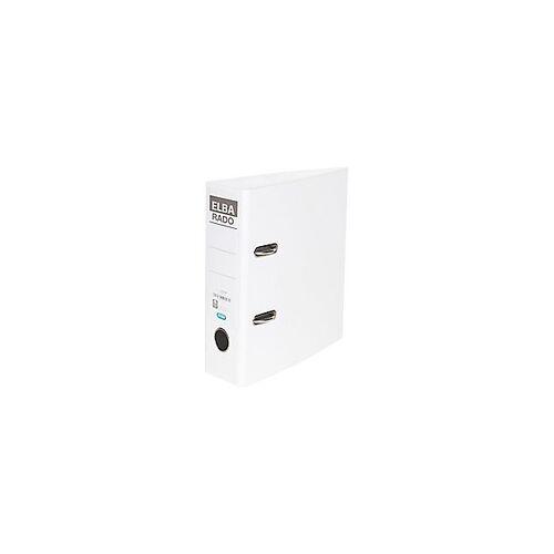 ELBA Ordner 80 mm PVC 2 Ringe DIN A5 Weiß