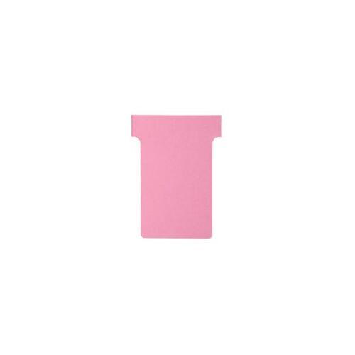 Nobo T-Steckkarten 2 Rosa 6 x 8,5 cm 100 Stück