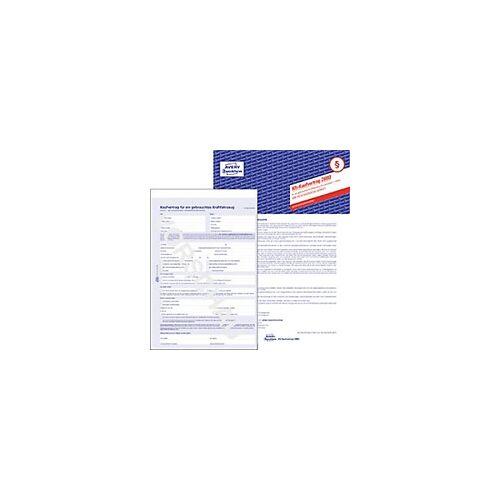 Zweckform AVERY Zweckform Kaufvertrag 2880 Blau DIN A4 Perforiert