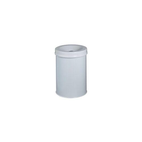 DURABLE Papierkorb Hellgrau Metall ohne Perforation 35,7 cm