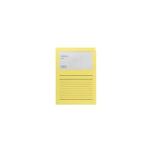 Elco Papiersichthüllen DIN A4 Gelb 120 g/m² Papier 100 Stück