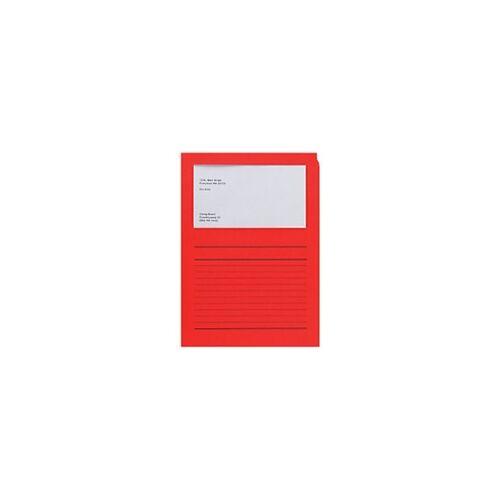 Elco Papiersichthüllen DIN A4 Rot 120 g/m² Papier 100 Stück