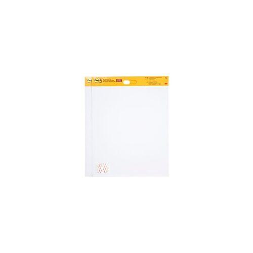 Post-it Flipchart-Papier Super Sticky 566 Weiß 50,8 x 58,4 cm 5 Stück à 20 Blatt