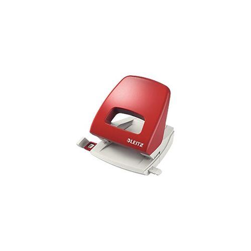 Leitz NeXXt Locher 5005 2-fach 25 Blatt Rot