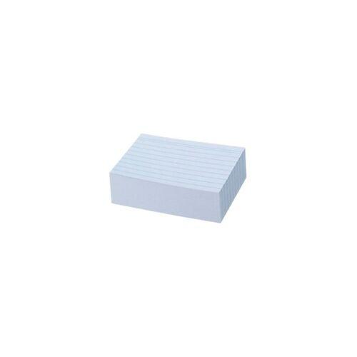 herlitz Karteikarten DIN A8 100 Karten Weiß 7,5 x 5,2 cm 100 Stück