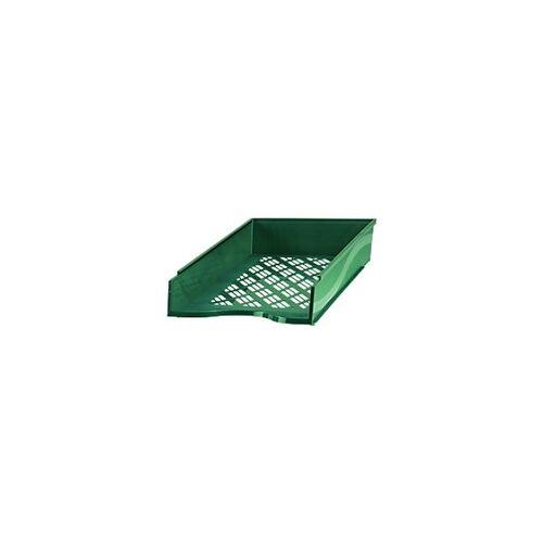 Bene Briefkorb Polystyrol Grün 25,6 x 35 x 7 cm