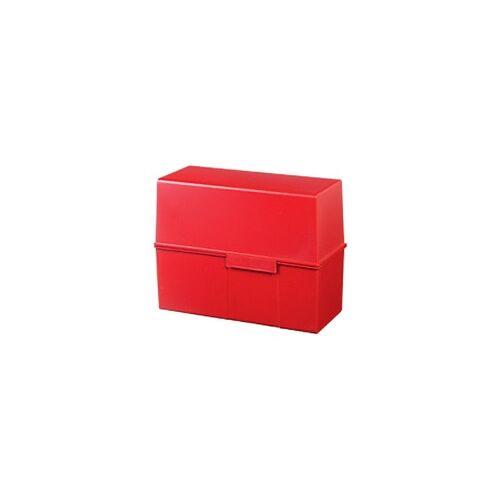 HAN Karteikartenbox DIN A5 450 Karten Rot 22,8 x 10,2 x 17,1 cm