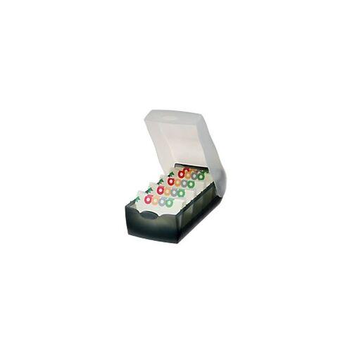 HAN Karteikartenbox Croco DIN A7 900 Karten Grau 12,5 x 24 x 8 cm