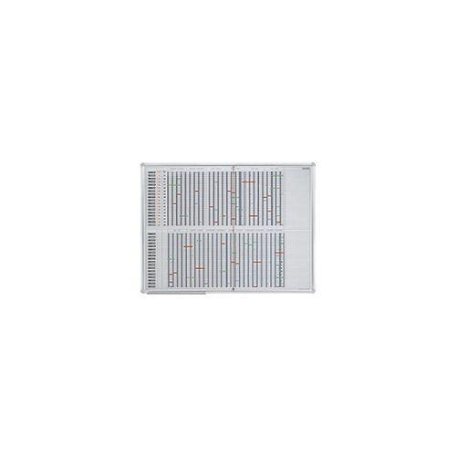 Franken Jahresplaner bis 35 Positionen Weiß, Silber 120 x 90 cm