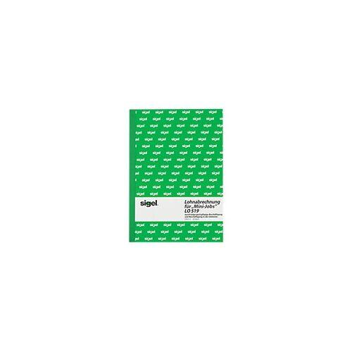 Sigel Lohnabrechnung LO519 DIN A5 hoch 50 Blatt