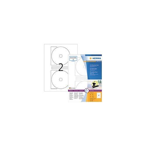 HERMA CD-Etiketten 4460 Weiß DIN A4 116 x 116 x 116 mm 100 Blatt à 2 Etiketten
