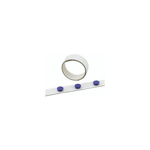 DURABLE Magnetband Selbstklebend Weiß 35 mm x 5 m