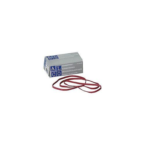 Alco Gummibänder im Karton / 748, rot, 80 x 4 mm, Inh. 50g