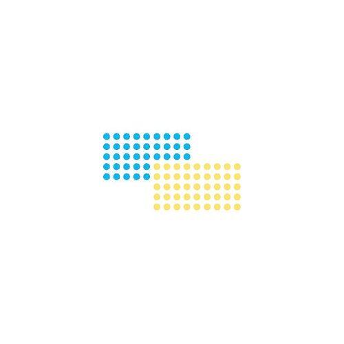 Franken Klebepunkte Blau, Gelb 1040 Stück