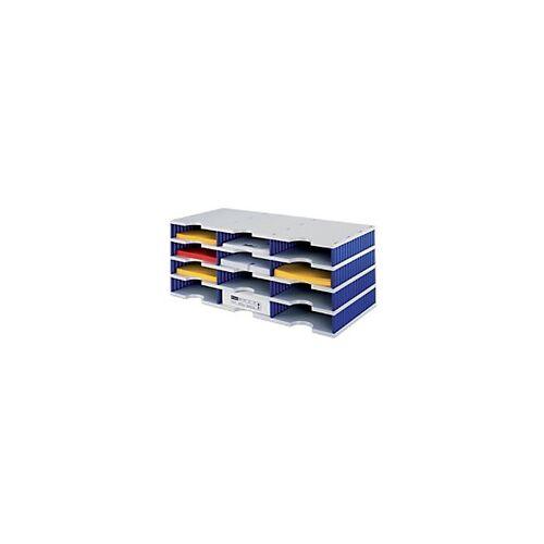 Styro Sortiersystem Grundeinheit Styrodoc DIN C4 Grau, Blau 72,3 x 33,1 x 29,3 cm