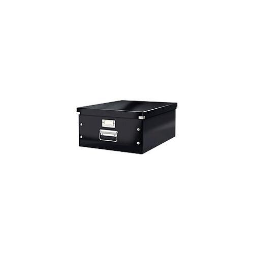 Leitz Click & Store WOW Aufbewahrungsbox DIN A3 Laminierte Hartpappe Schwarz 48,2 x 36,9 x 20 cm
