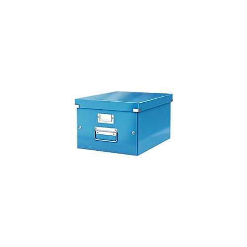 Leitz Click & Store WOW Aufbewahrungsbox DIN A4 Laminierte Hartpappe Blau 28,1 x 37 x 20 cm