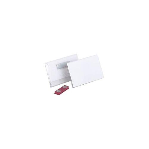 DURABLE Standard Namensschild Magnet 8117 mit Magnet 90 x 54 mm 25 Stück
