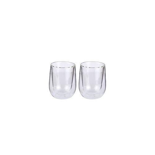CILIO Milchkaffee-Glas VERONA 2er Set 250 ml doppelwandig Teeglas