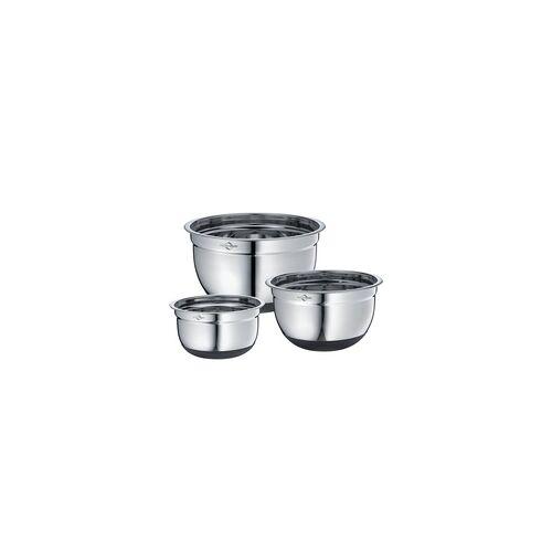 KÜCHENPROFI Küchenschüssel-Set 3 teilig 16 cm 20 cm 24 cm Rührschüssel Edelstahl