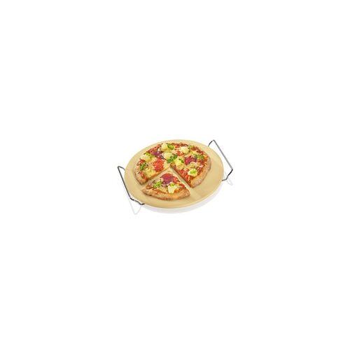 KÜCHENPROFI Pizzastein 30 cm rund mit Gestell