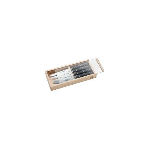 ZWILLING Steakmesser / Grillmesser 4 Stück im SET mit Holzbox