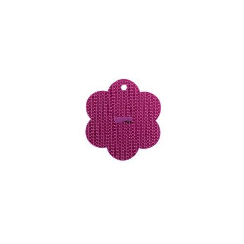 KOCHBLUME Waben-Untersetzer Blume LILA Silikon Topflappen
