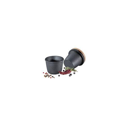 ZASSENHAUS Gewürzmörser / Gewürzreibe aus Gusseisen Ø 8 cm