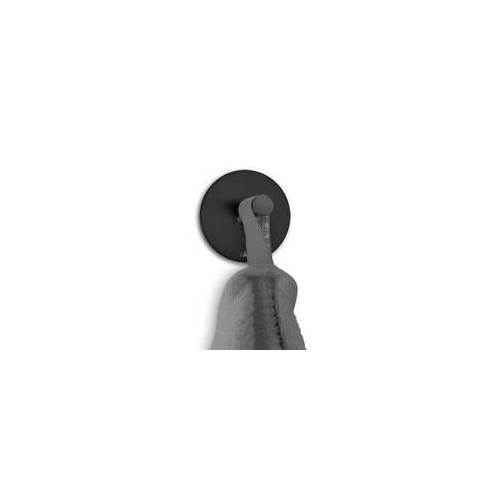 ZACK Handtuchhaken rund DUPLO selbstklebend matt schwarz 2er Set