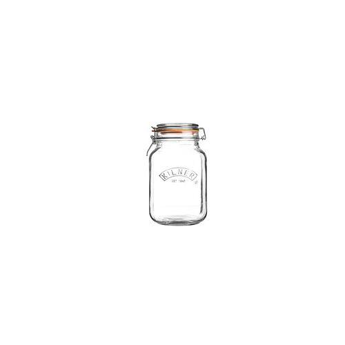 KILNER Bügelverschlussglas eckig 1,5 Liter Vorratsglas Einweckglas