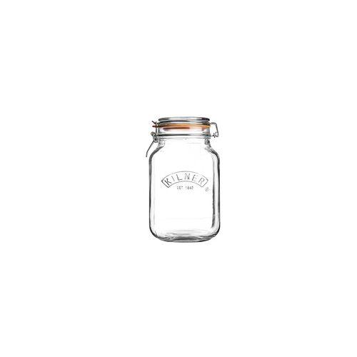 KILNER Bügelverschlussglas eckig 2,0 Liter Vorratsglas Einweckglas