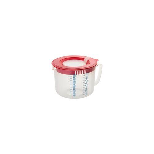 DR.OETKER Messbecher Rührbecher 2,2 Liter mit Spritzschutz