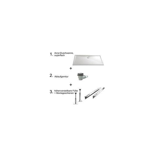 HSK Duschbecken Rechteck, super-flach 800 x 1600 mm… manhattan-grau