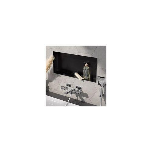 HSK Wandeinbaubox Set 60 × 30 × 10 cm… Schwarz (matt)