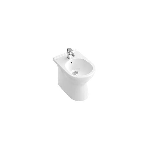 Villeroy & Boch O.novo Bidet 36 × 56 cm bodenstehend mit Überlauf… Weiß Alpin mit CeramicPlus