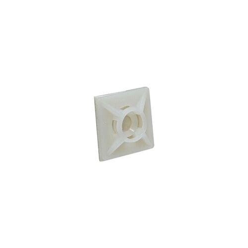heima-press Klebesockel 19 x 19 mm für Kabelbinder bis 3,6 mm - Farbe natur - Beutel 100 Stück