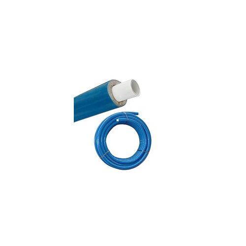 heima-press Iso - Mehrschichtverbundrohr 16 x 2 mm / blau - 6 mm Isolierstärke - Rolle 50 m