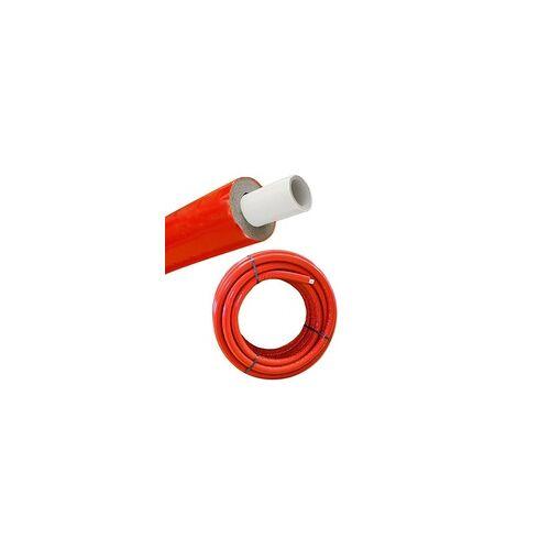 heima-press Iso - Mehrschichtverbundrohr 16 x 2 mm / rot - 10 mm Isolierstärke - Rolle 50 m - 50% EnEV