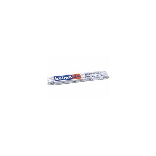 heima-press Qualitäts-Holzgliedermaßstab ''heima24'' - 2 m - 10 Glieder mit 90-Rastung