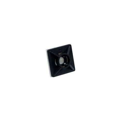 heima-press Klebesockel 19 x 19 mm für Kabelbinder bis 3,6 mm - Farbe schwarz - Beutel 100 Stück