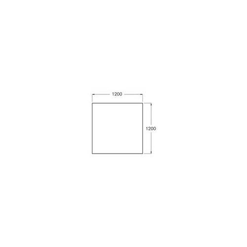 Buderus Bodenplatte aus Sicherheitsglas 6 mm - 1.200 x 1.200 mm mit Facette 15 mm für Kaminofen
